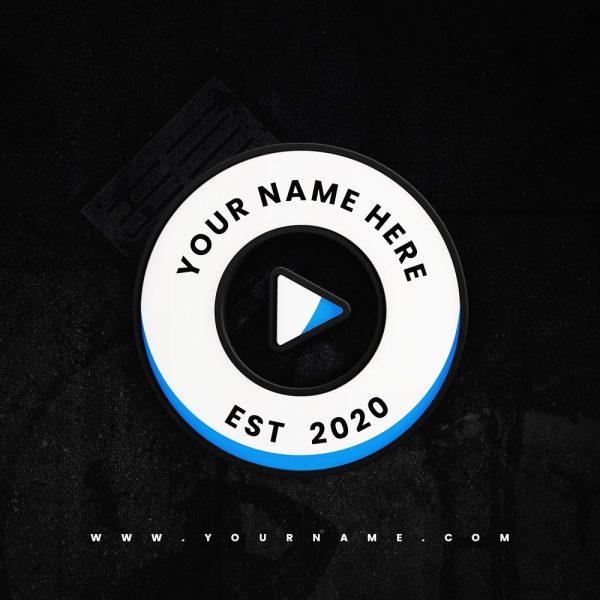 Premade Logo 034 Play Button Wheel Preview