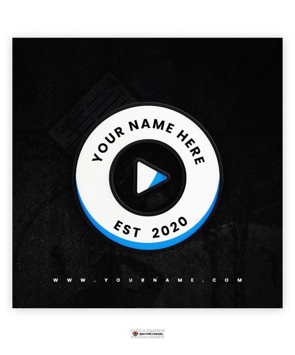 Premade Logo 034 Play Button Wheel