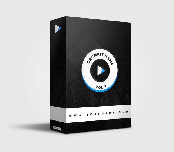 Premade Drumkit Box Design Play Button Wheel