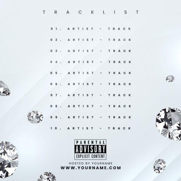Diamonds Premade Mixtape Cover Back