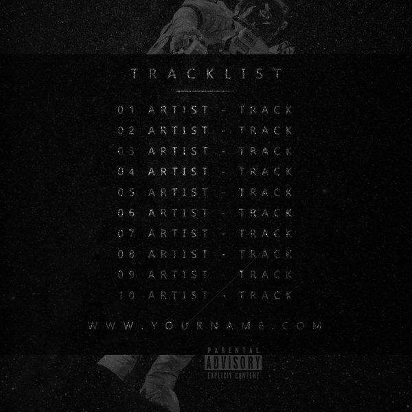Spaceman Premade Mixtape Cover Preview Black