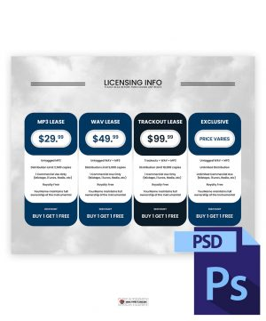 Sky Licensing Info Boxes PSD Template Preview