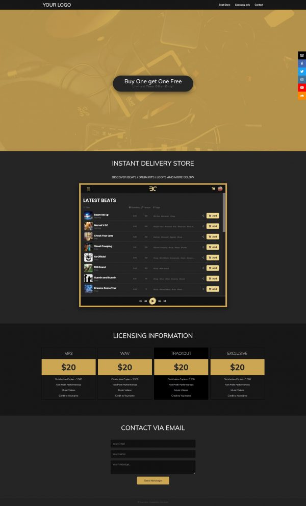 Premade Static One-Page Wesite Fullsize Preview 004