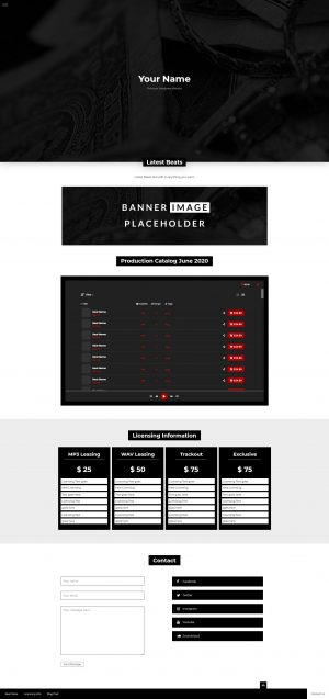 Wordpress Producer Theme 003 Fullsize Preview