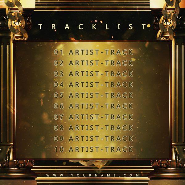 Gold Gang Premade Mixtape Cover Back Tracklist