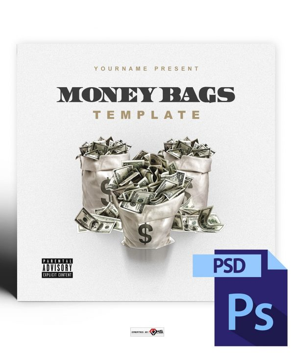 Money Bags Mixtape Cover Art Photoshop PSD Template
