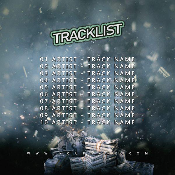 Money Train Premade Mixtape Cover Back Tracklist Preview