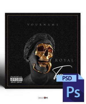 Royal Trap Mixtape Cover Photoshop Template PSD