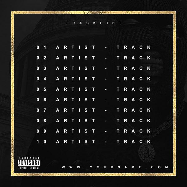 Trap God Premade Mixtape CD Cover Art Design Back