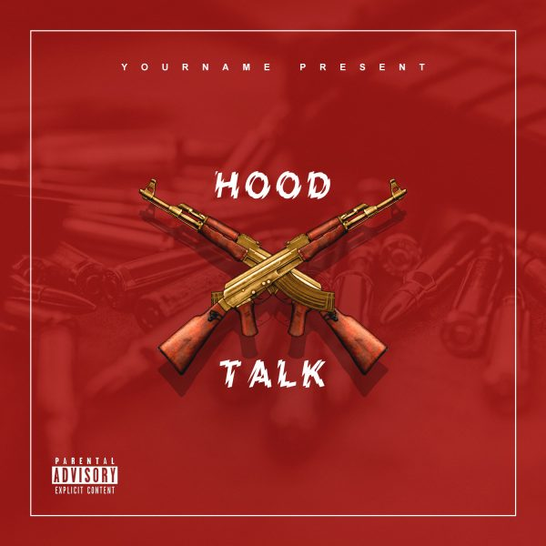 VMS - Hood Talk - Mixtape Cover Template-min