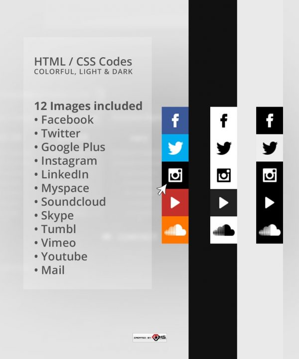 Social Links Bar HTML Template Preview