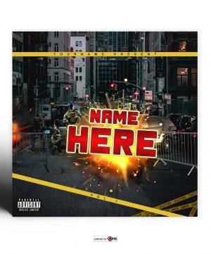New Riot Premade Mixtape Cover Art Design Preview