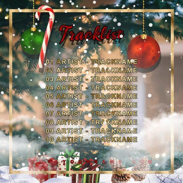 Christmas 2020 Premade Mixtape Cover Art Design Back Tracklist Preview