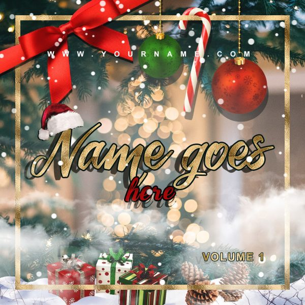 Christmas 2020 Premade Mixtape Cover Art Design Front Preview