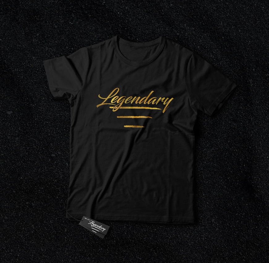 Legendary Clothing Custom Logo T-Shirt Design Peview