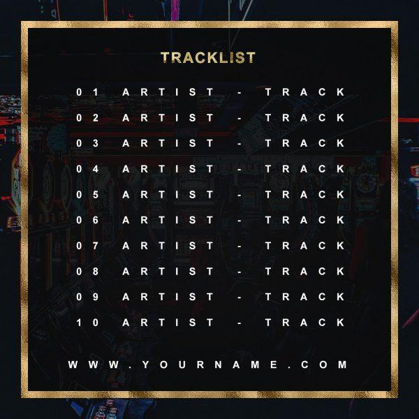 Casino Premade Mixtape Cover Art Design Back Tracklist Preview