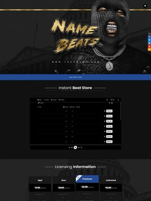Premade One Page Website #072