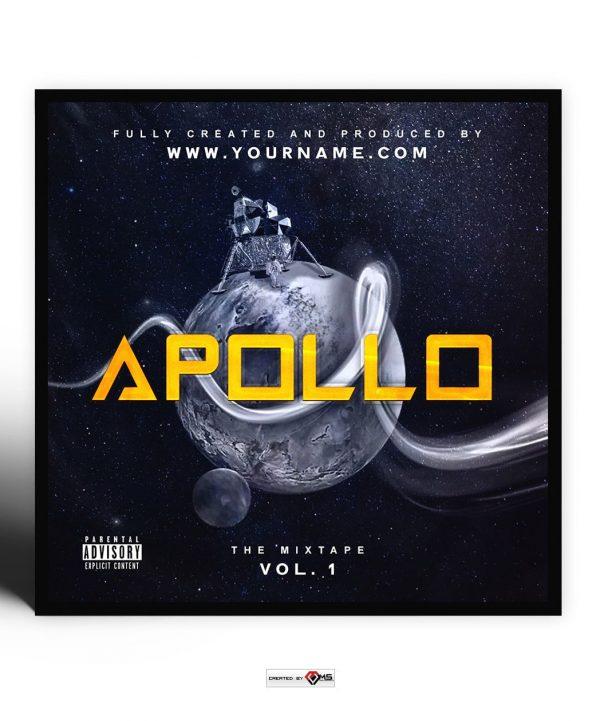 Apollo Premade Mixtape Cover Art Design Preview