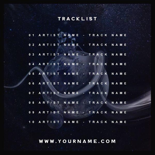 Apollo Premade Mixtape Cover Art Design Back Tracklist Preview