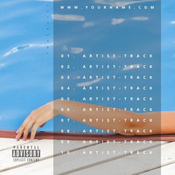 Summer Vibes Premade Mixtape Cover Art Design Back Tracklist Preview
