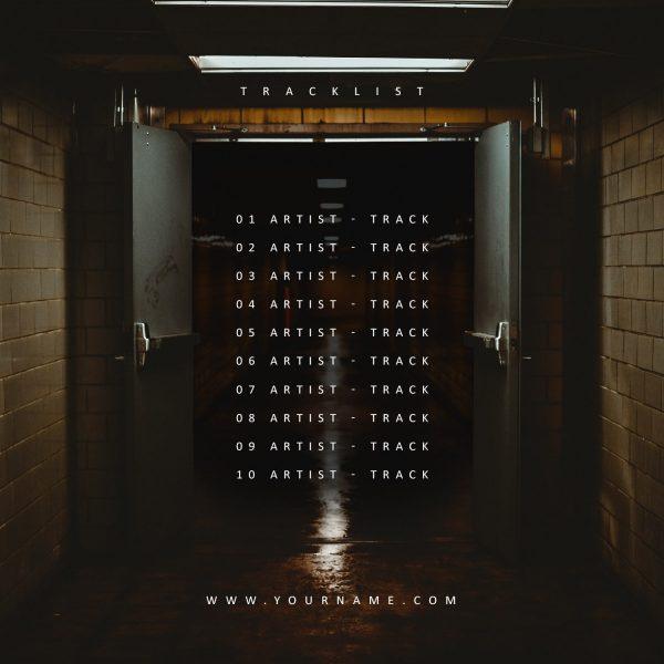 Trakt 23 Premade Mixtape Cover Art Design Back Tracklist Preview