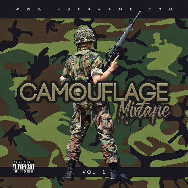 Camouflage Premade Mixtape Cover Art Front Design Preview