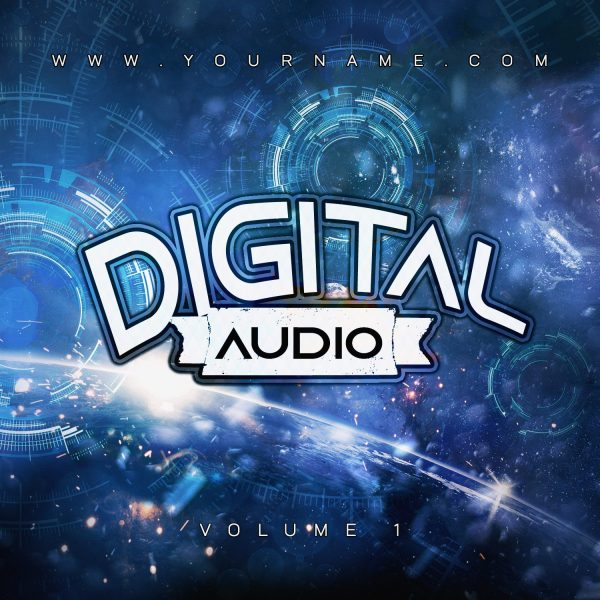 Digital Audio Premade Mixtape Cover Art Design Front Preview